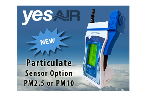 New! Particulate Sensor Options for the YESAIR
