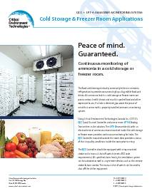 Application: Cold Storage / Freezer Rooms - QCC and LPT-A