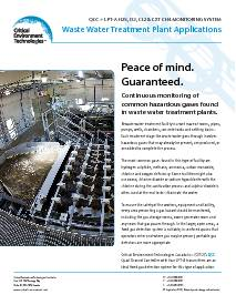 Application: Waste Water Treatment Plant - QCC and LPT-A