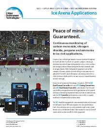 Application: Ice Arenas - QCC and LPT-A-NH3, LPT-A-C3H8-100 and DCC-E-TCO-NO2B