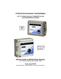 AST-U Series Electrochemical Transmitters Manual - Rev -A (discontinued)
