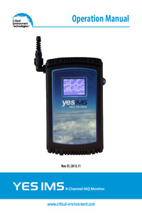 YES IMS IAQ Monitor Manual - Rev D (discontinued)