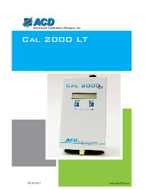CAL 2000 LT Instructional Manual