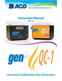 GENie-NH3 Instructional Manual