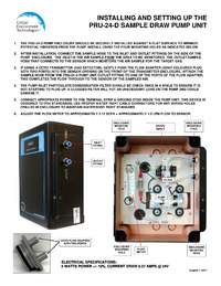 PRU-24-D Sample Draw Pump Unit Operation Instructions