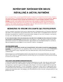 QCC Digital Network Installation Guidelines