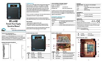 RPS-24VDC  Operation Manual