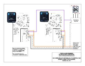 Wiring Drawing: SCC with relays in parallel to fan
