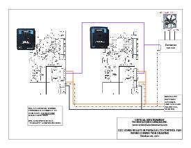 Wiring Drawing: DCC with relays in parallel to fan