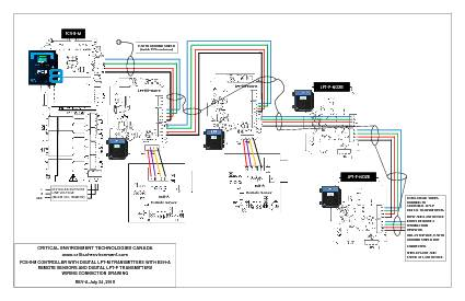 Wiring Drawing: FCS-8-M with LPT-M, ESH-A and LPT-P