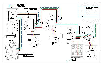 Wiring Drawing: FCS-B with LPT-M, ESH-A, LNK-AO, RLY-4, LNK-XT and RPS-24VDC