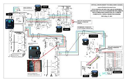 Wiring Drawing: FCS-B with two LNK-AO, LPT-P, ESH-A, RLY-4 and RPS24VDC