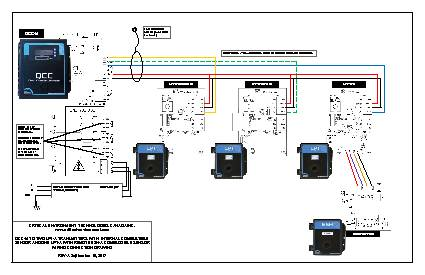 Wiring Drawing: QCC-M with LPT-A and ESH-A